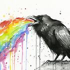 Raven Tastes the Rainbow by OlechkaDesign