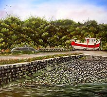 """Kilbaha Harbour, county Clare, Ireland"" - Oil Painting by Avril Brand"