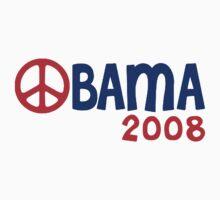 Obama 2008 Peace Sign by ShopBarack