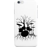 """""""Live the Beat to the Tempo of Creation"""" ~ drum tree art, version2 iPhone Case/Skin"""