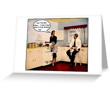 Kitchen Talk Greeting Card