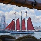 Impasto stylized photo of the Tall Ship American Pride at the Festival of Sail in San Diego, CA US. by NaturaLight