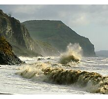 Winter morning on Charmouth Beach  Photographic Print
