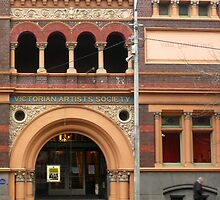 Victorian Artist's Society facade by Roz McQuillan