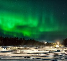 Aurora Dancing Above Inari by Kristin Repsher