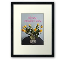 Yellow Roses for Mother's Day Framed Print