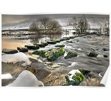 Stepping Stones over the River Doe Poster