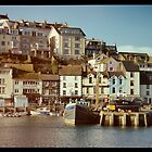 Brixham harbour front  by Rob Hawkins