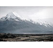 Mount Cook in mist - New Zealand  Photographic Print