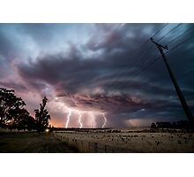 A lightning Sunset Photographic Print