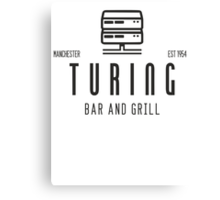 Turing Bar & Grill Canvas Print