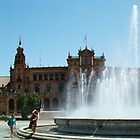 Plaza de Espana Panorama by Michael Gold