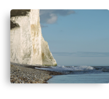 A view of a cliff - the Seven Sisters Canvas Print