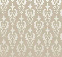 Damask vintage pattern. Gold background by LourdelKaLou