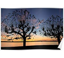Sunset at Meersburg - Lake Constance Poster