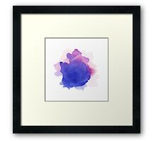 Abstract watercolor art hand paint on white background Framed Print