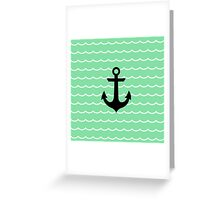 Anchor and Wave Greeting Card