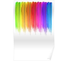 Striped hand drawn watercolor background. Bright colors. Watercolor composition for  print. Poster