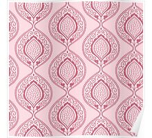 Luxury pink ornamental floral pattern Poster