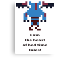 Night Stalker - I am the beast of bed time tales Canvas Print