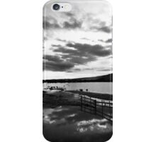 Sunset over a water meadow. iPhone Case/Skin