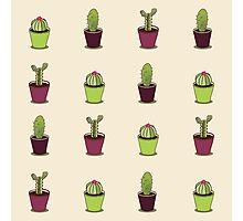 Cacti hand drawn seamless repeat pattern Photographic Print