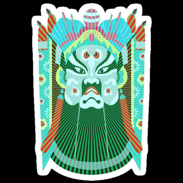 Chinese opera mask 3 by Tibetansky