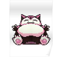 snorlax old sprite 3d Poster