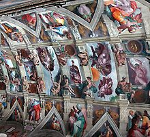 SISTINE CHAPEL CEILING, VATICAN CITY, ITALY by Edward J. Laquale