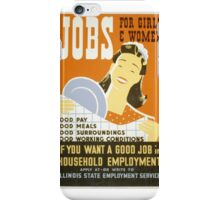 Jobs for Women iPhone Case/Skin