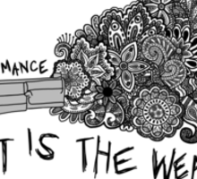 My Chemical Romance Art Is the Weapon Zentangle  Sticker