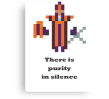 Silencer - There is purity in silence Canvas Print