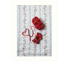 knitted with love Art Print