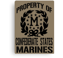 Property Confederate States Marines Canvas Print