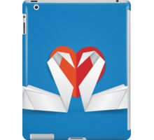 Swans and red heart 2 iPad Case/Skin