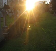 Sunset in Rosebank Cemetery by Yonmei