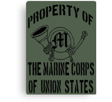 Property Marine Corps of Union States Canvas Print
