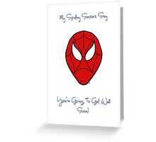 Spiderman - Get Well Soon Greeting Card