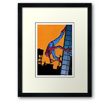 Does whatever a spider can... Framed Print