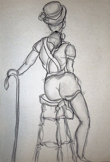 CLOTHED FIGURE DRAWING 7 by Tammera