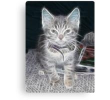 Fractilus..Kitty Canvas Print