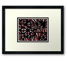 Timons Abstract Expression Red White Black Framed Print