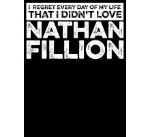 Regret Every Day - Nathan Fillion (Variant) Photographic Print