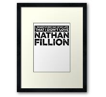 Regret Every Day - Nathan Fillion Framed Print