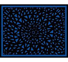 Sonderman Abstract Expression Blue Black Photographic Print