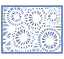 Stancoven Abstract Expression Blue White Photographic Print