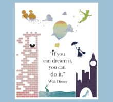 """I Love Disney! - """"If You Can Dream It..."""" Kids Clothes"""