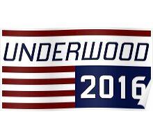 Underwood for president 2016.- 2 Poster