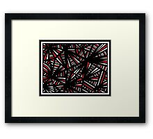 Kolb Abstract Expression Red White Black Framed Print