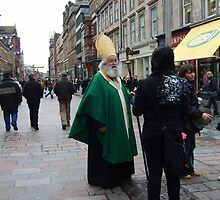 Saint Paddy goes shopping in Glasgow by biddumy